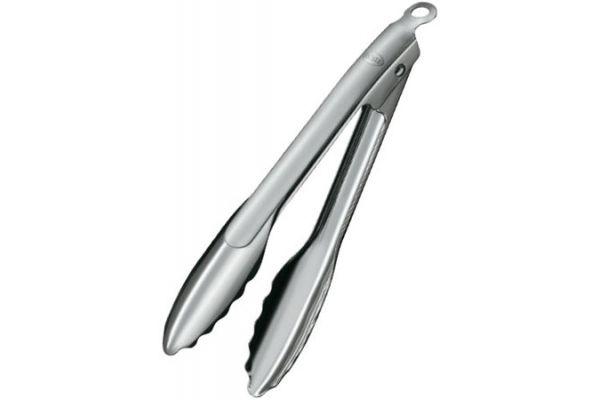 "Large image of Rosle 9"" Stainless Steel Locking Tongs - 12915"