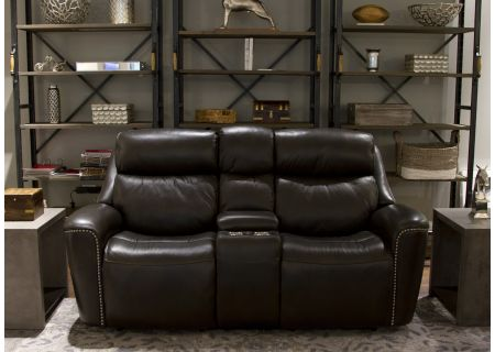 Flexsteel Mystic Leather Power Reclining Loveseat With Power Headrests - 1471-64PH-014-26