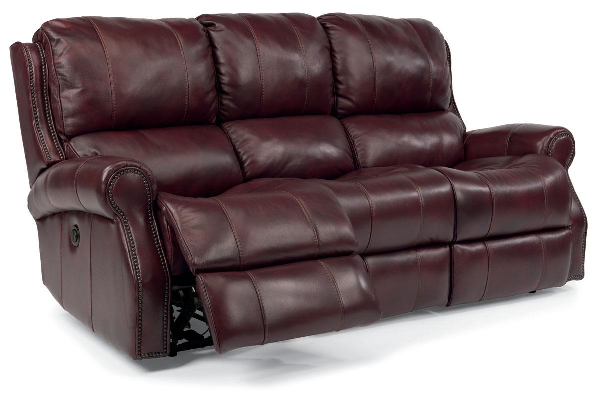 Flexsteel Miles Leather Reclining Sofa 153362p41862