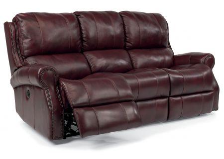Flexsteel Latitudes Miles Leather Reclining Sofa - 1533-62P-418-62