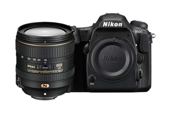 Large image of Nikon D500 DX 16-80mm VR Digital SLR Lens Kit  - 1560N