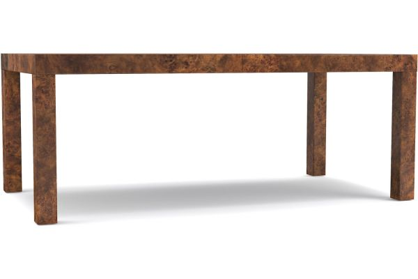 Hooker Furniture Cynthia Rowley Dining Room Long Board Rectangle Dining Table - 1586-75200B-BRN