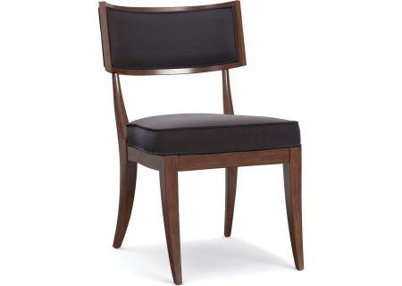 Hooker Furniture Cynthia Rowley Dining Room Upholstered Klismos Chair - 1586-75410G-BRN1