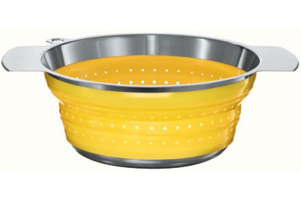 """Rosle Yellow 10"""" Collapsible Colander - 16129"""