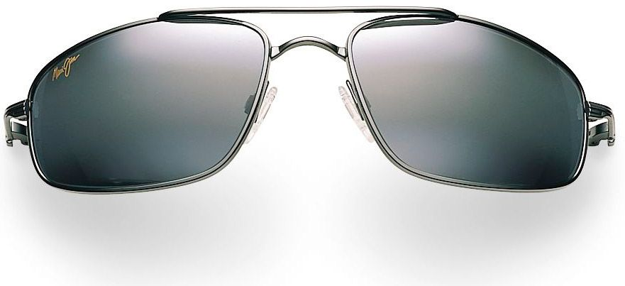 9676ec0a96d Maui Jim Rectangle Kahuna Black Mens Sunglasses - 162-02