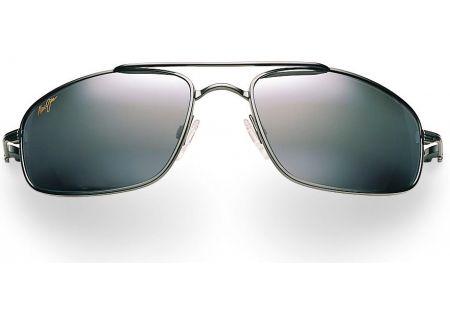 Maui Jim Rectangle Kahuna Black Mens Sunglasses - 162-02