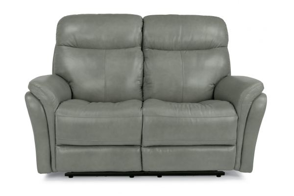 Large image of Flexsteel Zoey Leather Power Reclining Loveseat With Power Headrests - 1653-60PH-360-01
