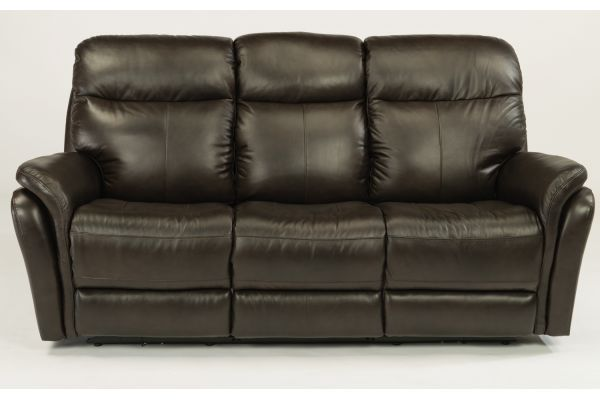 Large image of Flexsteel Zoey Leather Power Reclining Sofa With Power Headrests - 1653-62PH-360-70