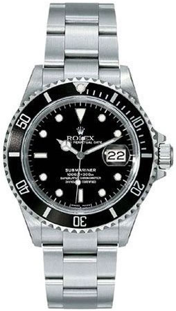 Rolex Oyster Perpetual Submariner Black Dial Mens Watch ...