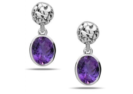Charles Krypell Dylani Amethyst Sterling Silver Earrings - 16815OVAMY