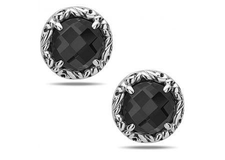 Charles Krypell Skye Sterling Silver And Hematite Earrings  - 1-6944-HEM