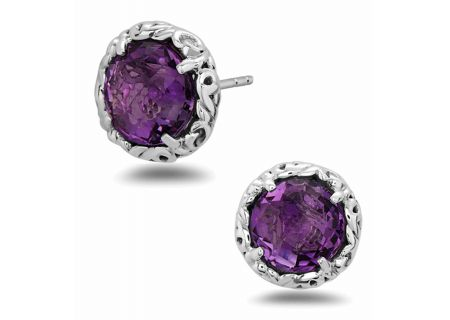 Charles Krypell Dylani Sterling Silver And Amethyst Earrings - 16944SAMY