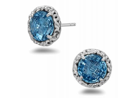 Charles Krypell Dylani Sterling Silver And Blue Topaz Earrings - 16944SBT