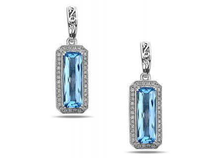 Charles Krypell Eve Blue Topaz Sterling Silver Earrings - 16955ECBTD
