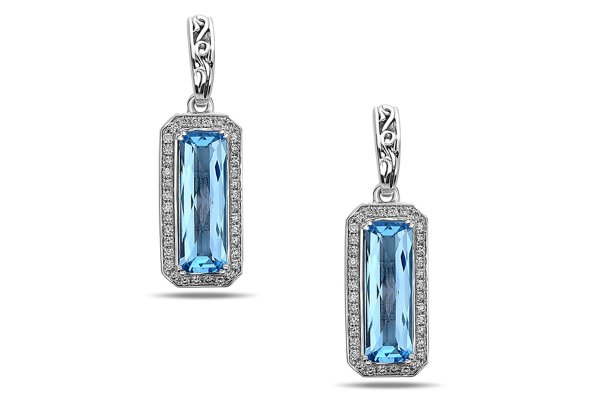 Large image of Charles Krypell Eve Blue Topaz Sterling Silver Earrings - 16955ECBTD