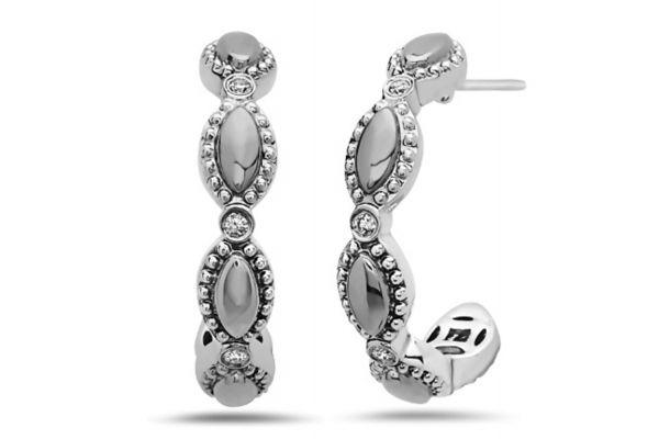 Large image of Charles Krypell Firefly Sterling Silver Hoop Earrings - 16964FFS