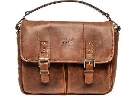 Nikon 100th Anniversary Premium Antique Cognac Leather Bag - 17051