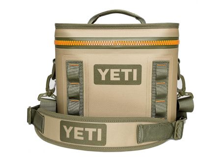 YETI Field Tan Blaze Orange Hopper Flip 8 Cooler - 18010110001