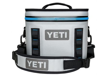 YETI Fog Grey Blue Hopper Flip 8 Cooler - 18010120001