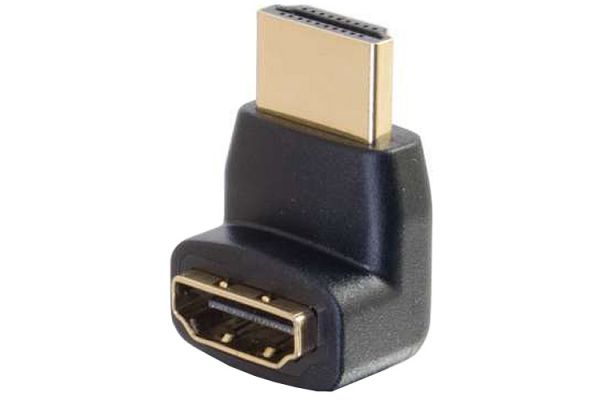 Cables To Go HDMI Male To HDMI Female 90 Degree Up Adapter - 18413