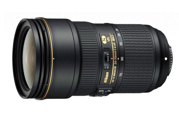 Large image of Nikon AF-S Fx NIKKOR 24-70mm f/2.8E ED VR Camera Lens - 20052N