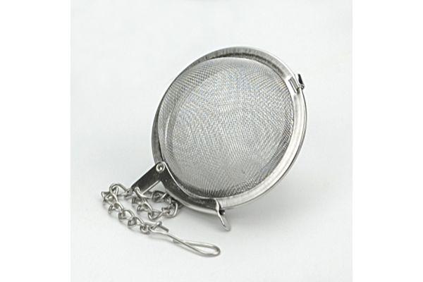 "Large image of RSVP 2"" Stainless Steel Endurance Ball Mesh Tea Infuser - 2056"
