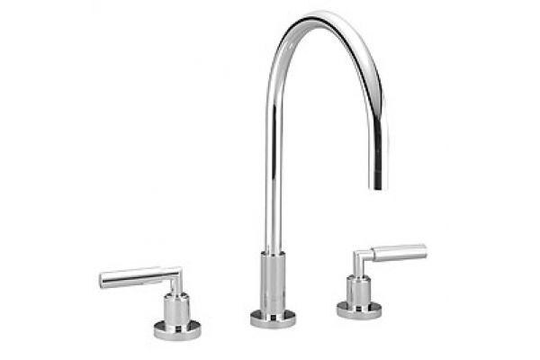 Large image of Dornbracht Tara Chrome Three-Hole Kitchen Faucet  - 20815882-000010