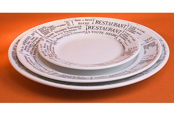 """Pillivuyt Brasserie 7.75"""" Dinner Plate - 210120BR"""