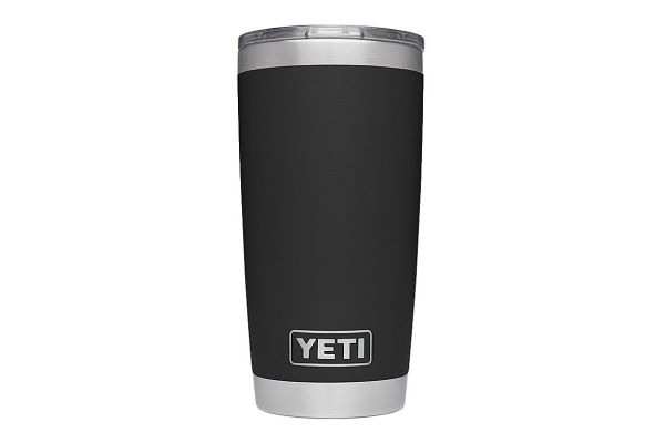 Large image of YETI Black 20 Oz Rambler With MagSlider Lid - 21070060018