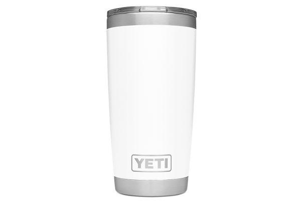 Large image of YETI White 20 Oz Rambler With MagSlider Lid - 21070060025