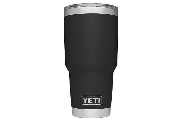 Large image of YETI Rambler 30 Oz Tumbler With MagSlider Lid In Black - 21070070019