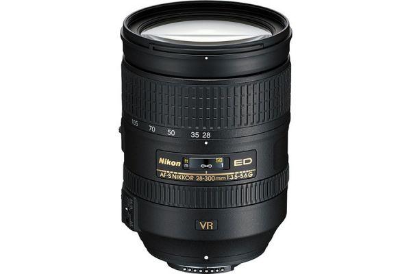 Large image of Nikon AF-S NIKKOR 28-300mm f3.5-5.6G ED VR Zoom Camera Lens - 2191