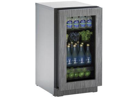 "U-Line 2218RGL 18"" Integrated Glass Door Compact Refrigerator - U-2218RGLINT-00B"