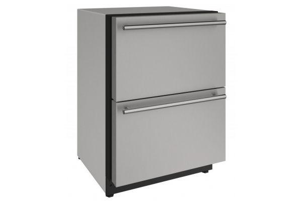 "U-Line 24"" Stainless Steel Refrigerator Drawers  - U-2224DWRS-00A"