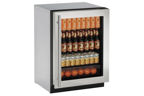 "Large image of U-Line 2000 Series 24"" Stainless Frame Refrigerator - U-2224RGLS-00B"