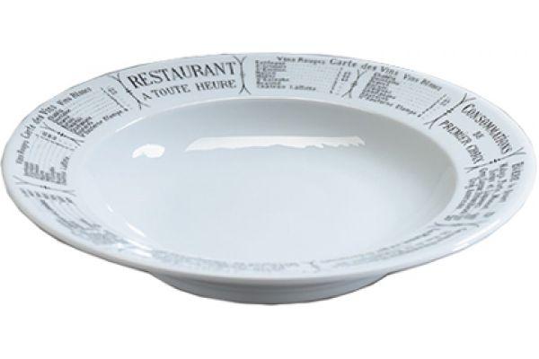 "Large image of Pillivuyt Brasserie 11"" Pasta Dish - 232228BR"