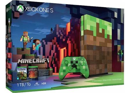 Microsoft Xbox One S 1TB Minecraft Limited Edition Bundle - 23C-00001