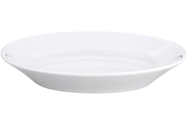 """Large image of Pillivuyt 6.75"""" Deep Oval Serving Platter - 240117"""