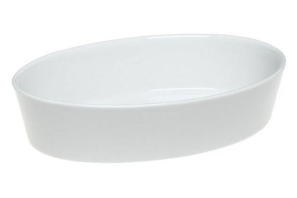 Large image of Pillivuyt Porcelain Medium Deep Oval Bakers - 240526