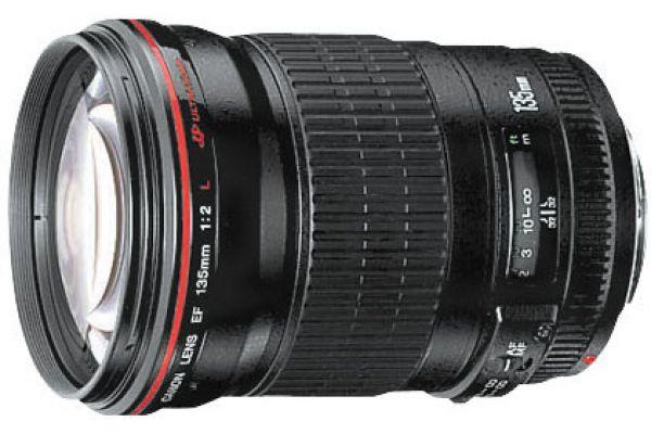 Large image of Canon Black EF 135MM F2L USM Telephoto Lens - 2520A004