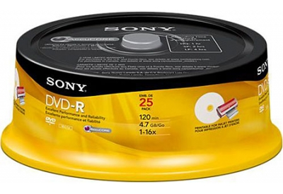 Sony - 25DMR47RSP4 - Recordable DVD Discs