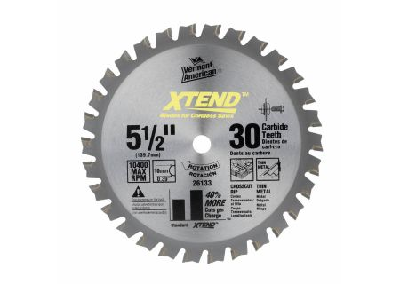 "Vermont American 5-1/2"" 30 Tooth Saw Blade - 26133"