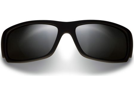 Maui Jim Matte Black Rectangle Mens Sunglasses - 266-02MR