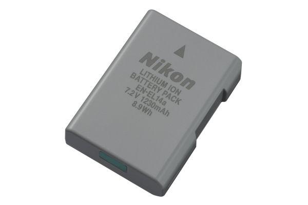 Large image of Nikon EN-EL14a Black Rechargeable Li-ion Battery - 27126