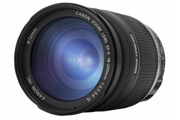 Large image of Canon EF-S 18-200mm Standard Zoom Camera Lens - 2752B002