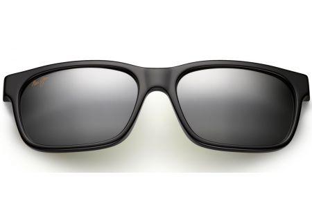 Maui Jim Eh Brah Gloss Black Unisex Sunglasses - 284-02