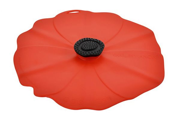 "Large image of Charles Viancin 9"" Poppy Air-Tight Silicone Lid - 2902"