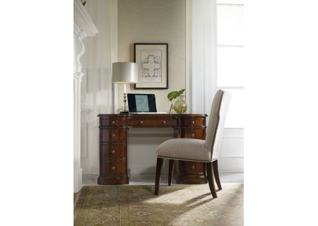 Hooker Furniture Home Office Cherry Knee-Hole Desk-Bow Front - 299-10-301