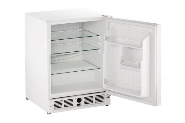 "Large image of U-Line 21"" White Undercounter Refrigerator - U-29RW-00A"