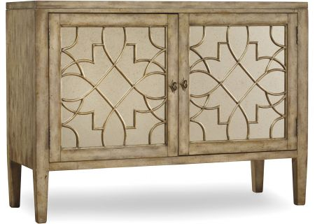 Hooker Furniture Living Room Sanctuary Two-Door Mirrored Console - 3013-85002
